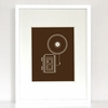Say Cheese Camera Art Print