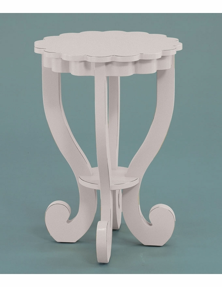 Scallop End Table