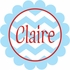 Scalloped Chevron Personalized Fabric Wall Decal