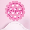 Scalloped Crown Personalized Fabric Wall Decal