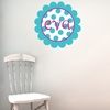 Scalloped Dots Personalized Fabric Wall Decal