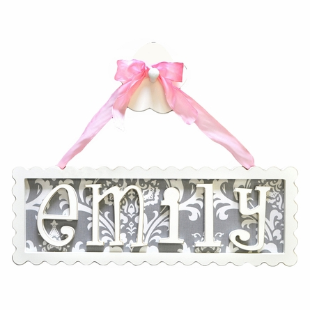 Scalloped Edge Name Plaque