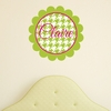 Scalloped Houndstooth Personalized Fabric Wall Decal