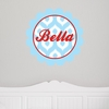 Scalloped Ikat Personalized Fabric Wall Decal