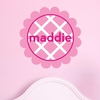 Scalloped Lattice Personalized Fabric Wall Decal