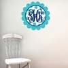 Scalloped Monogram Dots Personalized Fabric Wall Decal