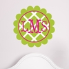 Scalloped Monogram Lattice Personalized Fabric Wall Decal