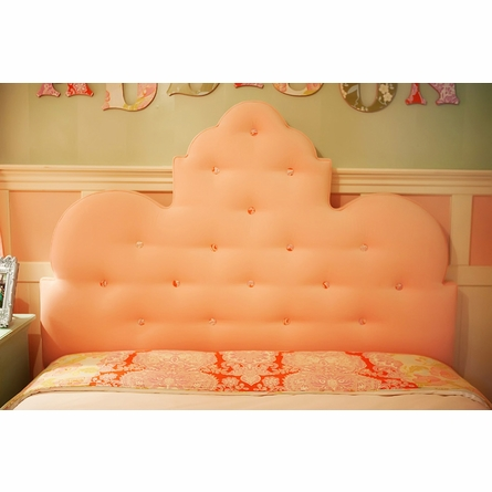 Scalloped Queen Upholstered Headboard