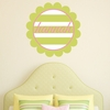 Scalloped Stripes Personalized Fabric Wall Decal
