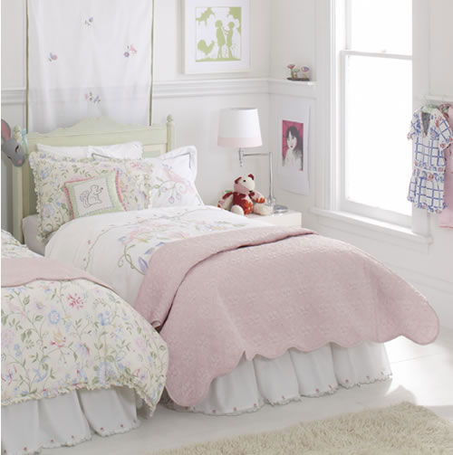 Scalloped Voile Twin Bed Skirt By Whistle Amp Wink