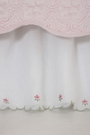 Scalloped Voile Twin Bed Skirt