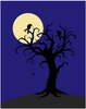 Scary Tree Paint by Number Wall Mural