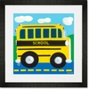School Bus Framed Art Print