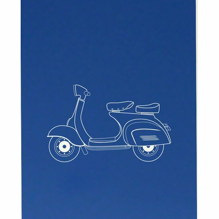 Scootin' Scooter Art Print