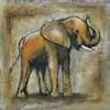 Scribble Elephant Canvas Wall Art