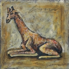 Scribble Giraffe Canvas Wall Art