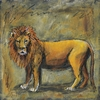Scribble Lion Canvas Wall Art