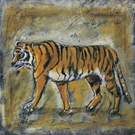 Scribble Tiger Canvas Wall Art