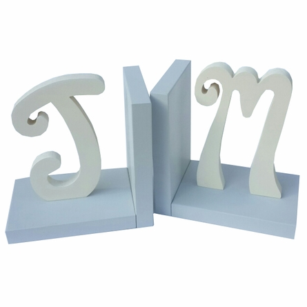 Script Initial Solid Bookends