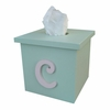 Script Initial Solid Tissue Box Cover