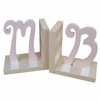 Script Initial Striped Bookends