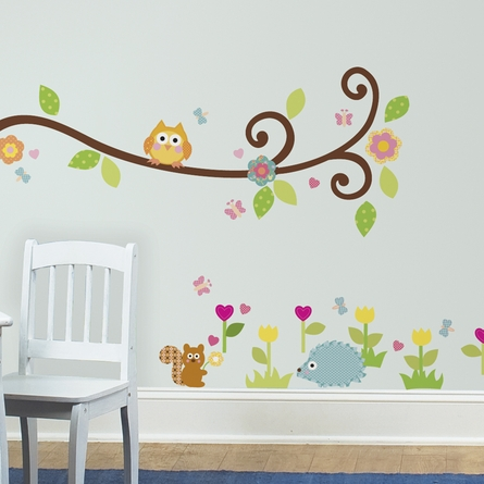 Scroll Tree Branch Peel & Stick Wall Decals