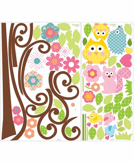 Scroll Tree MegaPack Peel & Stick Wall Decal