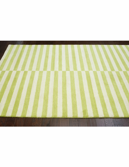 Scully Striped Rug in Green
