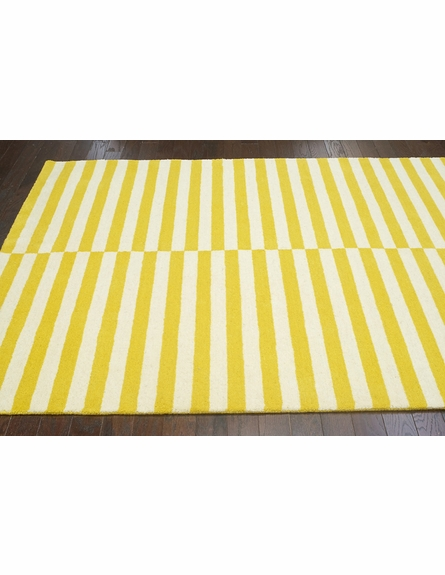Scully Striped Rug in Lemon