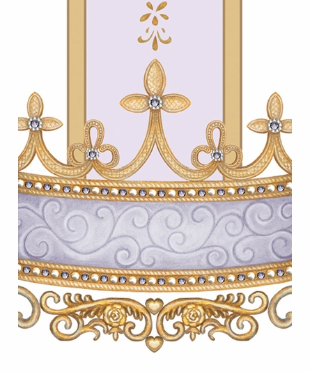 Se Faire Belle Crown Personalized Canvas Art in Lovely Lavender