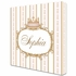 Se Faire Belle Crown Personalized Canvas Art in Posey Pink