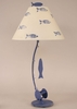 Sea Fishing Pole Table Lamp in Weathered Morning Jewel
