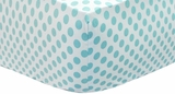 Sea Polka Dot Crib Sheet $(+50.00)