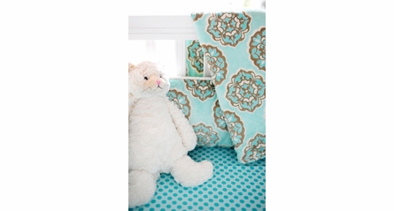Sea Polka Dot Crib Sheet