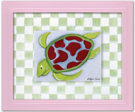 Sea Turtle Personalized Framed Canvas Reproduction