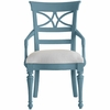 Sea Watch Arm Chair in Ticking Marine Fabric