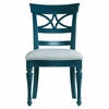 Sea Watch Side Chair in Ticking Marine Fabric