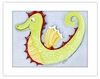 Seahorse Framed Canvas Reproduction