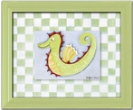 Seahorse Personalized Framed Canvas Reproduction
