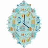 Sealife Baroque Wall Clock