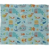 Sealife Fleece Throw Blanket