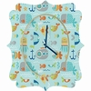 Sealife Quatrefoil Wall Clock