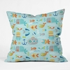 Sealife Throw Pillow
