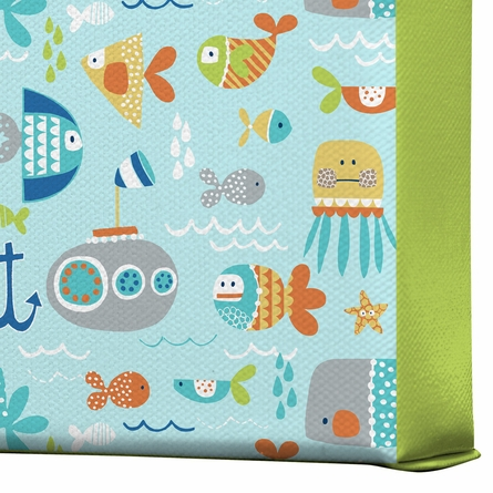 Sealife Wrapped Canvas Art