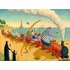 Seaside Train Ride Mural Wall Decal