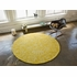 Seasons Round Rug in White and Canary Yellow