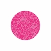 Seasons Round Rug in White and Pink