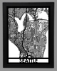 Seattle Framed City Map