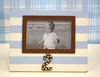 Second Birthday Picture Frame in Blue & Chocolate