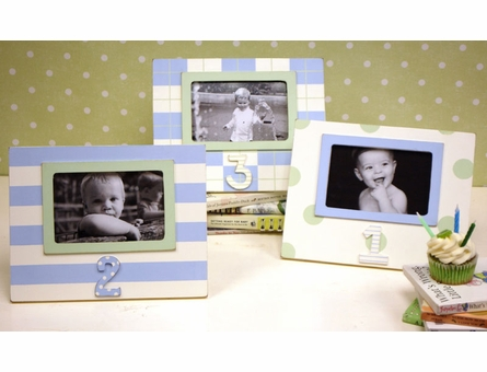 Second Birthday Picture Frame in Blue & Green